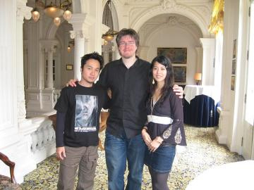 From left to right: Yoji Shinkawa, some ugly and unshaven bloke :p, Yumi Kikuchi